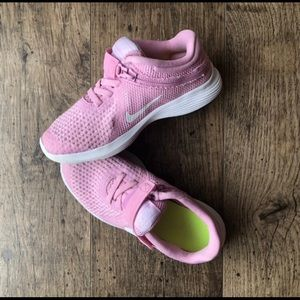 Pink Nike Revolution Flyease
